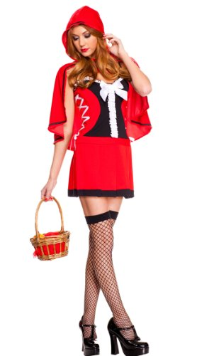Music Legs Women's Lace Up Red Riding Hood Costume