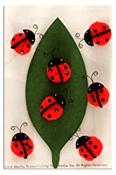 Martha Stewart Crafts Ladybug Pom Pom Stickers By The Package