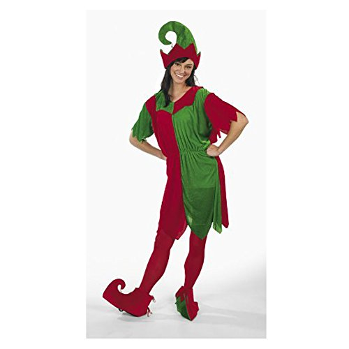 Velour Elf Adult Women's Costume