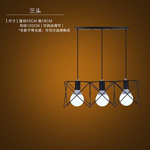 Lbcvh Nordic-stile retrò semplice e personalità creative bar ristorante illuminazione industriale di ferro lampadario loft,3 il primo