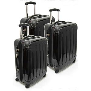trolley koffer set 3 tlg 75 65 55cm farbe anthrazit. Black Bedroom Furniture Sets. Home Design Ideas