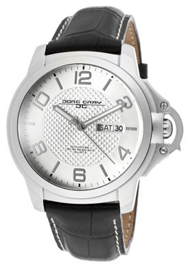 Jorg Gray Men's JG1850-18 Black/Silver Leather Watch