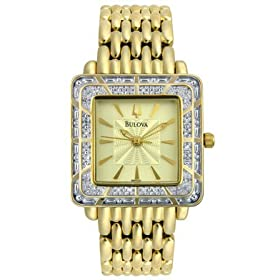 Bulova Ladies Diamond Watch - Bulova 98R001