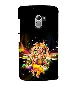 printtech Lord God Ganesha Back Case Cover for Lenovo K4