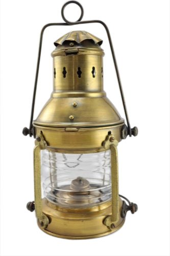 "Antique 10"" Round Cargo Light Oil Lantern Lamp"