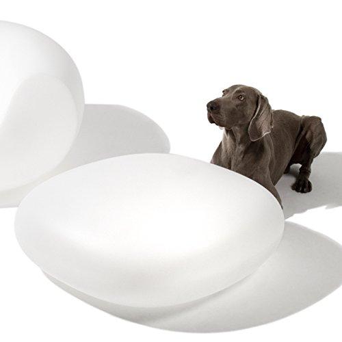 Blanc Pouf design gris