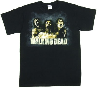 Cracked Zombies Walking Dead T-shirt