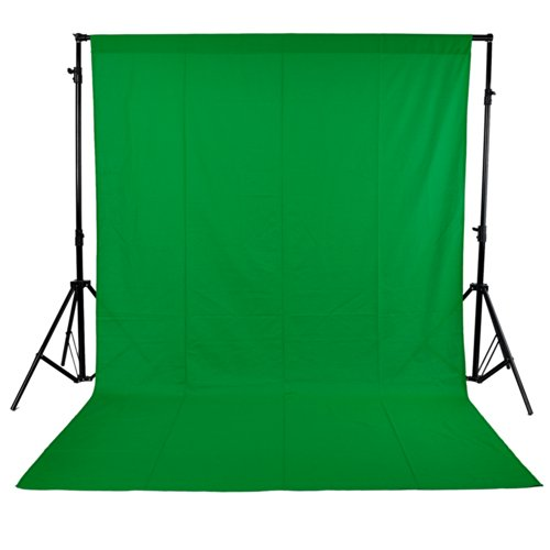 """Neewer Green 10 x 12 ft / 3m X 3.6m Muslin Collapsible Background Photography, Video Backdrop, Television Background with 3.4"""" Rod Pocket (Background Stands NOT Included)"""