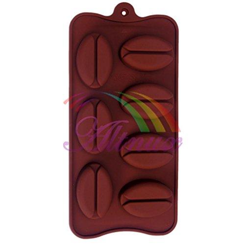 Generic Coque en silicone forme Grain de Café Chocolat Glace Moules Bonbons Moule à gâteau Décoration Outils