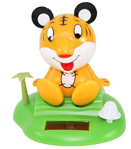 A Tiger on Tropical Island Solar Toy Car Dashboard Desk Home Decor Birthday Holiday Valentine's Day Gift US Seller