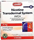 Leader Nicotine Transdermal System 21mg 14ct - (Compare to Nicoderm CQ)