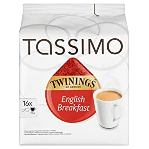 Tassimo Twinings Breakfast Tea 16 servings (Pack of 5, 80 servings/pods/discs in total)
