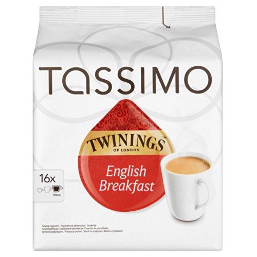 Tassimo Twinings Breakfast Tea 16 servings (Pack of 5, 80 servings/pods/discs in total)