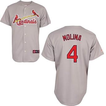 MLB St. Louis Cardinals Yadier Molina Road Gray Replica Baseball Jersey, Road Gray by Majestic