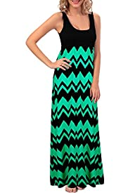 Cacuu Women's Chevron Maxi Boho Summe…