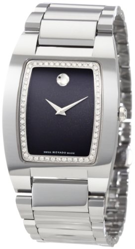 Movado Men's 0606506 Fiero Tungsten Carbide Black Museum Dial with Diamonds Watch