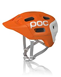 POC Trabec Race Helmet, White/Orange, X-Small-Small/51-54 by POC