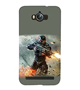99Sublimation war Zone 3D Hard Polycarbonate Back Case Cover for Asus Zenfone Max ZC550KL :: 2016 :: 6A076IN