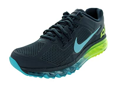 Nike Mens Air Max+ 2013 Running Shoes Armory Navy/Gamma Blue/Volt 554886-447 Size 8