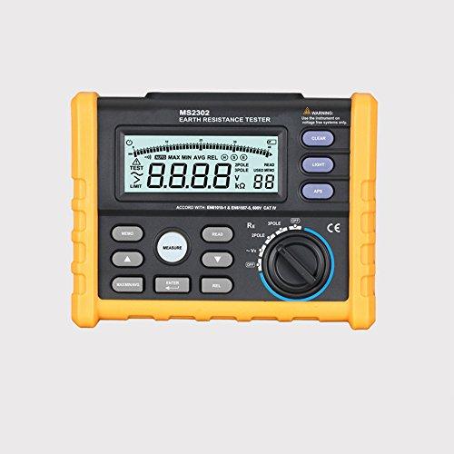 Malxs MS2302 Testeur de Résistance à la Terre Numérique Haute Précision pour Equipements Electrique de Mesure de Résistance au Sol