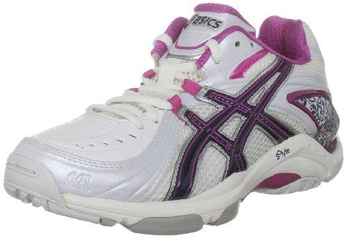 ASICS Women's Gel Netburner 13 (d) White/Midnight/Hot Suzie Trainer R152Y 0159 4 UK