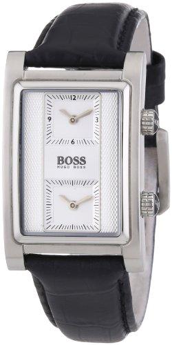 Hugo Boss  Dual Time - Reloj de cuarzo para hombre, con correa de acero inoxidable, color negro