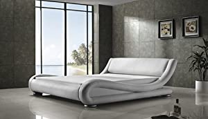 Polsterbett Moonlight weiß 160 x 200 cm Luxusbett