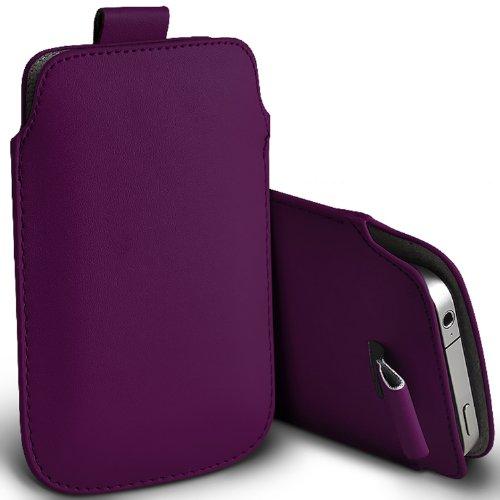 ( Dark Purple ) Samsung Rex 60 C3312R Schutzkunstleder Pull Tab stilvolle Einbau Beutel-Kasten-Abdeckung Haut durch Spyrox