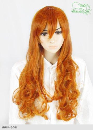 スキップウィッグ 魅せる シャープ 小顔に特化したコスプレアレンジウィッグ ドーリィミディ オレンジブラウン