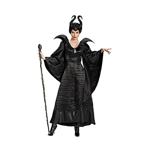 Shindigz Halloween Party Maleficent Christening Adult Costume Black Gown
