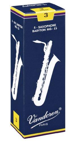 Vandoren Baritone Saxophone Reeds #3, Box of