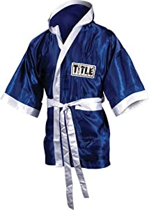Buy TITLE Boxing 3 4 Length Stock Satin Robe by Title Boxing