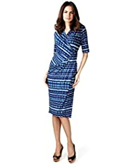 Per Una Linear Striped Wrap Dress