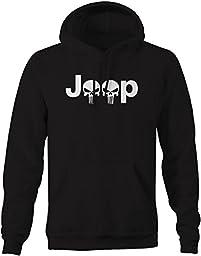 Jeep Logo with Punisher Skulls - 4x4 Outdoor Sweatshirt - 4XL