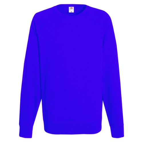 Fruit Of The Loom - Felpa Girocollo Maniche Raglan - Uomo (L) (Blu reale)