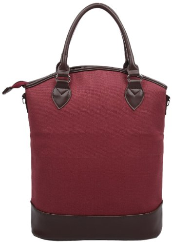 Sachi Vino 3-Bottle Wine Tote, Style 35-211, Burgundy - 1