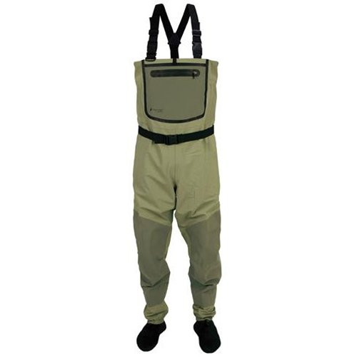 Frogg Toggs Anura Nylon Breathable Stockingfoot Wader, Medium, Sand/Sage