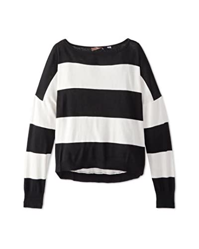 Cullen Women's Striped Boatneck, Black Combo, XS