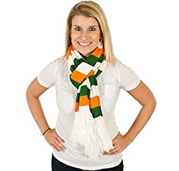 Irish St. Patrick\'s Day Scarf in Orange-Green-White By Festified