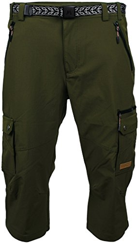 Angel Cola Men's Outdoor Hiking & Climbing Softshell Cargo Shorts PM5207 Green 30 Cargo Climbing Shorts