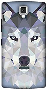 The Racoon Lean printed designer hard back mobile phone case cover for Lenovo A2010. (Ice Wolf E)