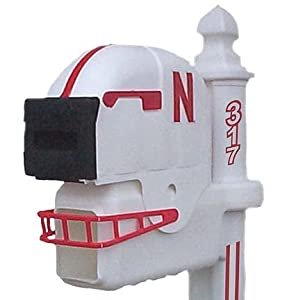 Nebraska Cornhuskers Helmet Style Mailbox by Ultimate Sports Gifts