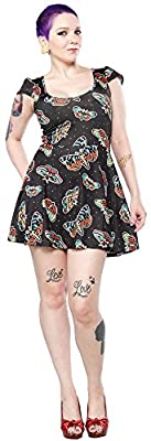 Sourpuss Deaths Head Moth Skater Dress