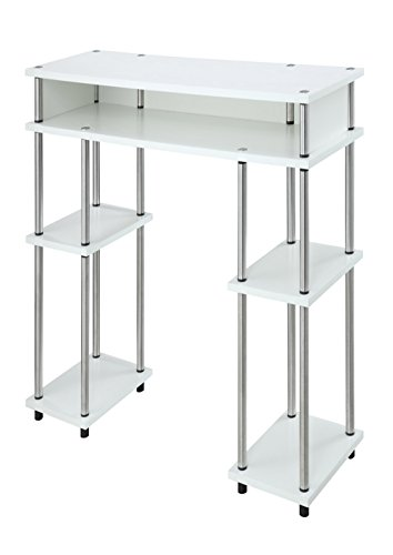 Convenience Concepts Modern No Tools Student Desk White