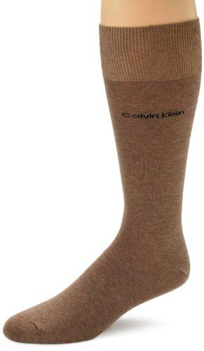 Calvin Klein Men'S Egyptian Cotton Dress Socks, Taupe, 7-12