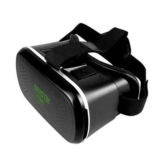 VR mezstar Vitual Reality VR Box Headset Adjustable Lens and Strap Video Movie Game 3D Glasses