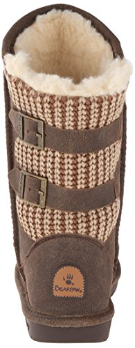 BEARPAW Women's Boshie Winter Boot, Chestnut/Distressed, 7 M US