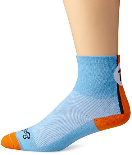 SockGuy Men's Lucky 13 Socks, Light Blue, Large/X-Large (Cycling Sock Guy compare prices)
