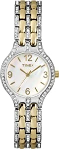 Timex Women's T2P259 Crystal Two-Tone Stainless Steel Bracelet Watch