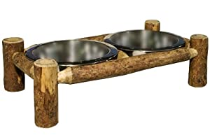 Montana Woodworks Glacier Country Collection Pet Feeder, Large